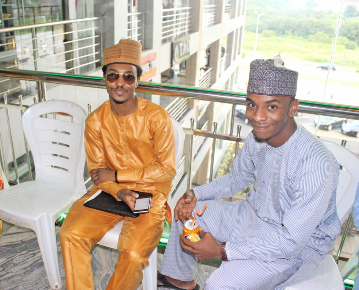 Arafat Bage, CEO of Levels Labels with Khalifa Baba Ahmed, Editor in Chief Of Capital City Magazine